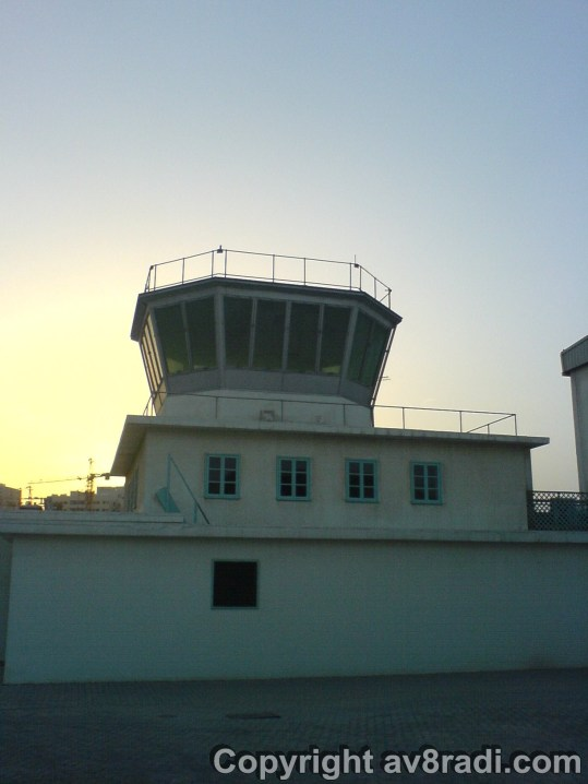The perfectly preserved control tower