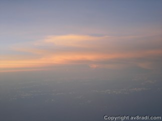 Sunsets are indeed beautiful on an airplane!