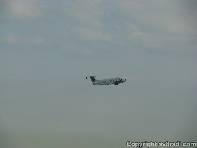 Air Canada's Beechcraft 1900D taking-off