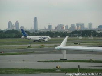 An Air Transat A310 landing at YYZ