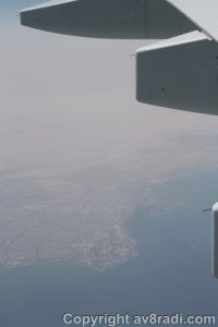 Is it Really?? Yes, it is…flying over Kuwait City