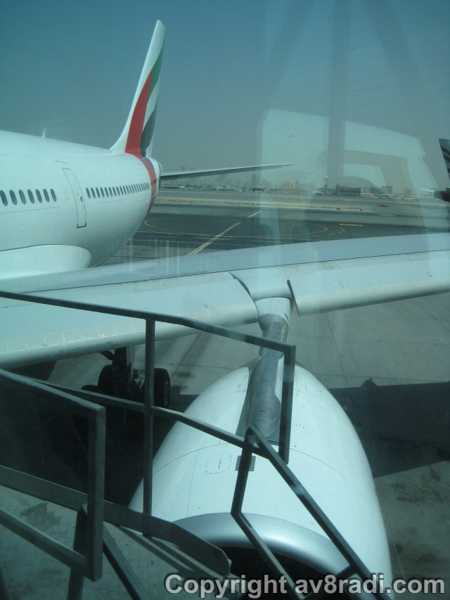 Engine, fuselage, tail of my ride