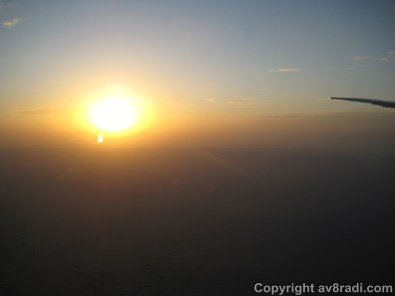Sunrise from an airplane