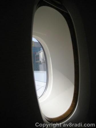 Detailed look at EK's A380 window