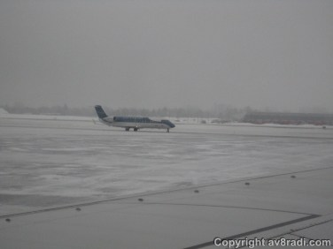 A Nav Canada CRJ taxing by