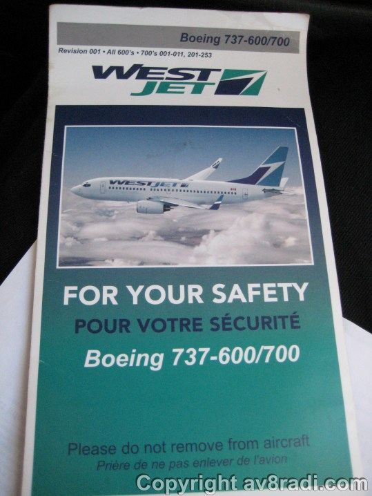 Safety card - too bad we cant take it off the aircraft :(