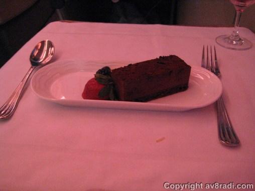 Dinner - Dessert - Dark chocolate cake