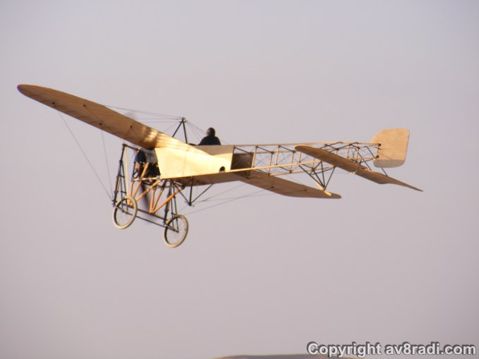 A close-up of the restored Bleriot XI