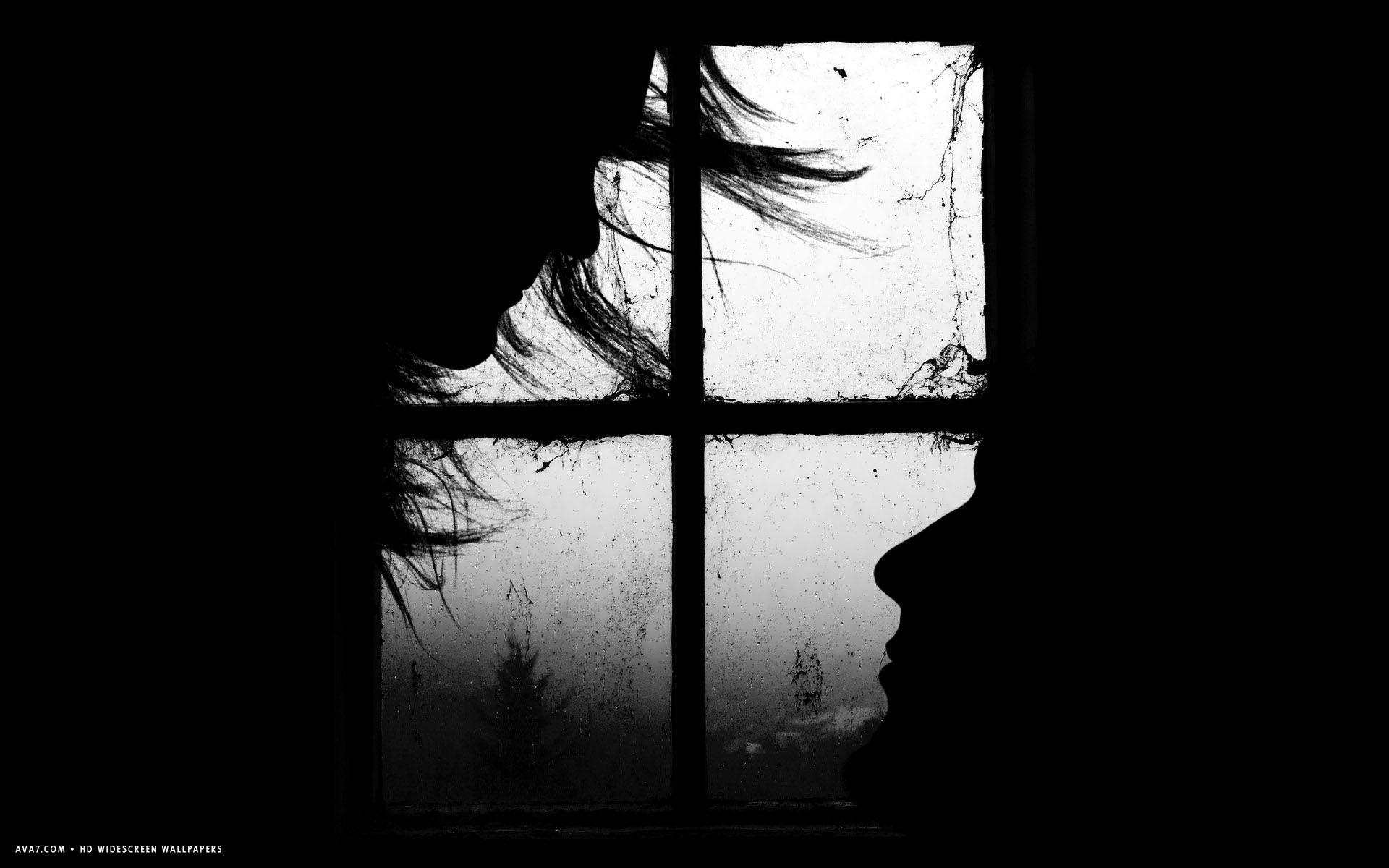 love couple black kiss faces window minimalistic hd widescreen