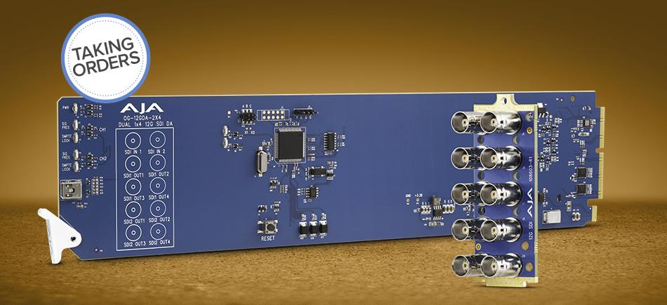 AJA presenta el nuevo distribuidor 12G openGear OG-12GDA-2×4