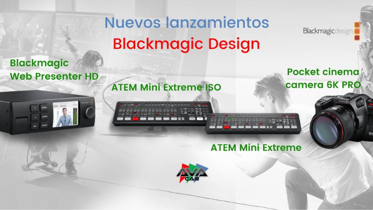 Nuevos lanzamientos y productos Blackmagic Design