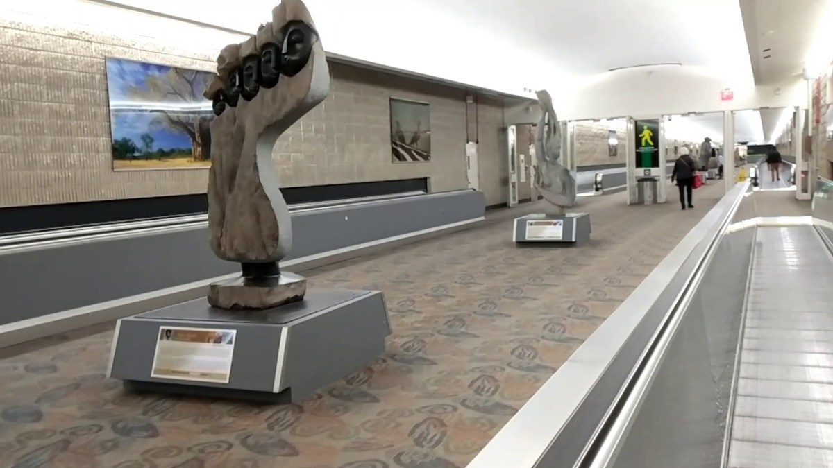 African Sculptures from Zimbabwe at Atlanta International Airport