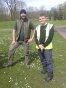 Jim & volunteer
