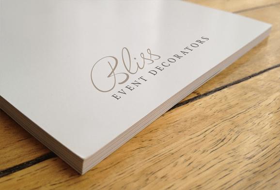 logo design Bliss Event Decorators