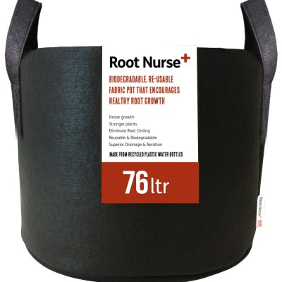 Root Nurse Round Black Fabric Pots