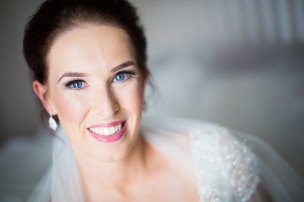 elegant vintage inspired bridal hair and makeup