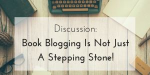 blogging is not a stepping stone