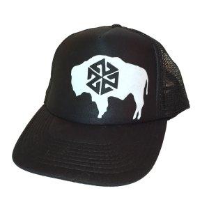 Avalon7 Bison Roam Trucker Hat black