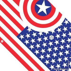 American Flag Snowboard Bandana
