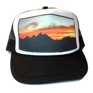 Lost Creek Teton Sunset Trucker Hat, Jackson Hole