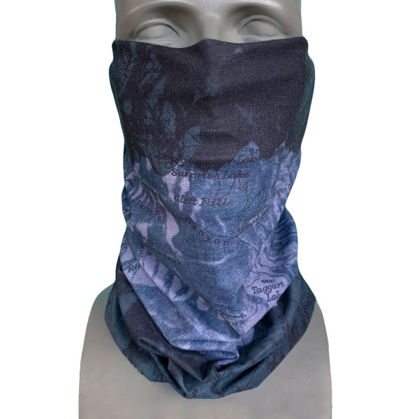 Avalon7 Jackson Hole Tetons Black Snowboarding Facemask