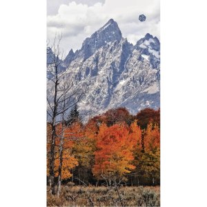 Avalon7 facemask scarf with Tetons