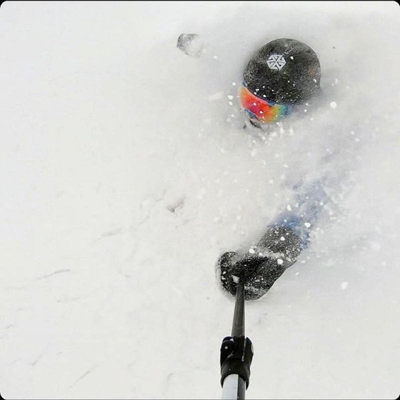 White room?  Yes please. @sharifissa enjoys the pow at @jacksonhole.  This is why we make facemasks!  5 degrees and cold smoke! #LiveActivated #Skiing #powtown #jhdreaming