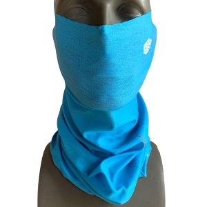 Straight Up Blue Necktube for flyfishing, snowboarding Covid-19