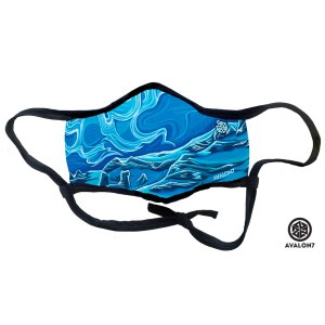 avalon7 secret stash blue fitmask by Valerie Black