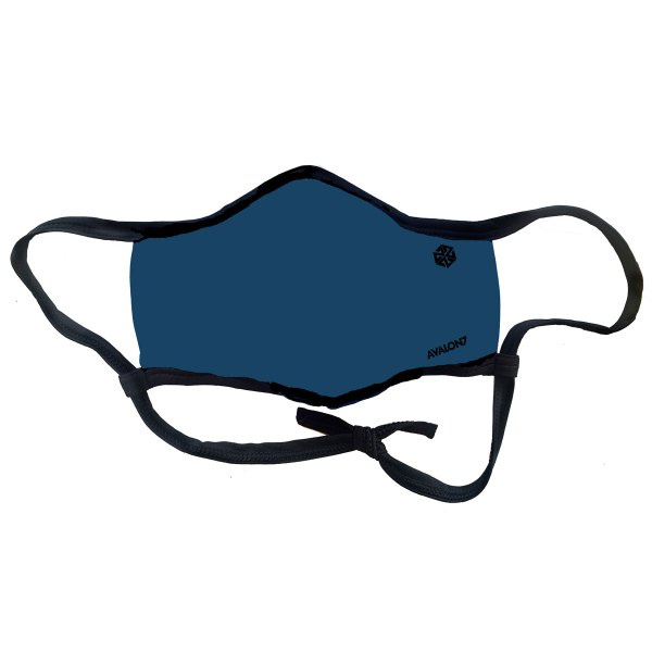 AVALON7 Dark Blue Smoke and Social Distancing face mask