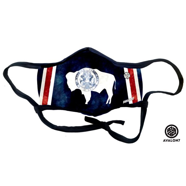 AVALON7 Wyoming Flag Social Distancing Fitmask COVID 19