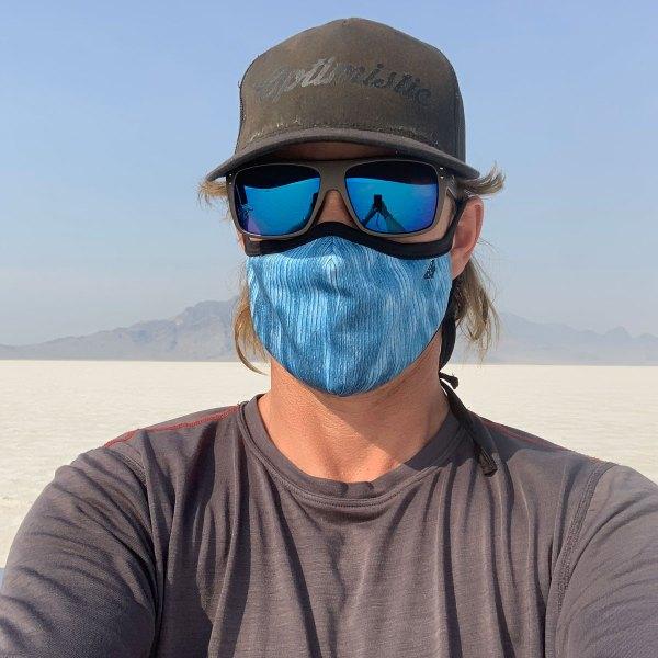 Avalon7 dusty blue adjustable breathable face mask