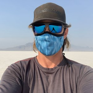 Avalon7 dusty blue adjustable breathable face mask