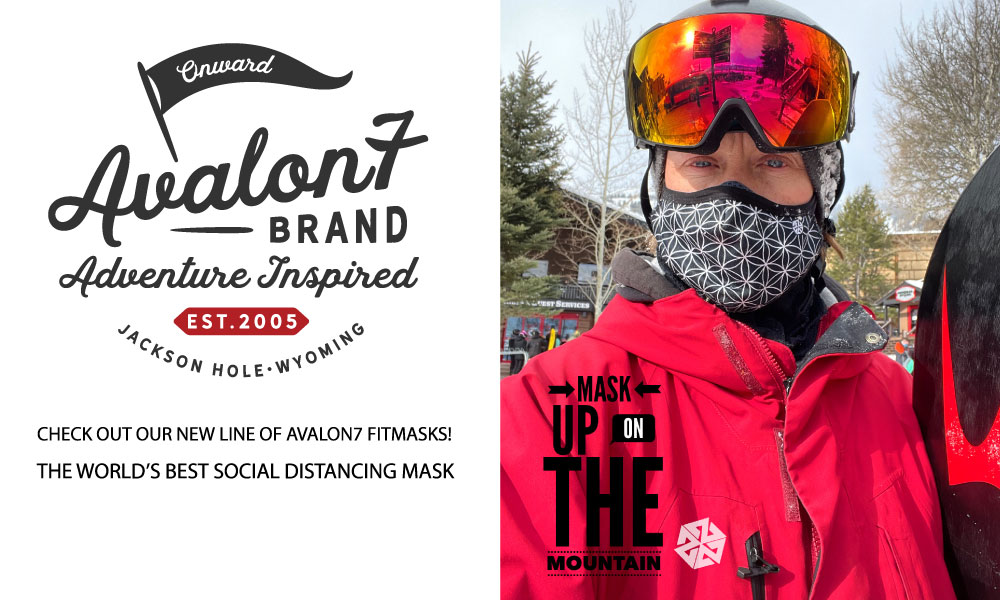AVALON7 makes the best, most adjustable 3 layer social distancing face masks for skiing and snowboarding in winter
