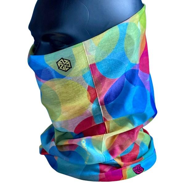 Avalon7 rainbow colored neck gaiter face mask