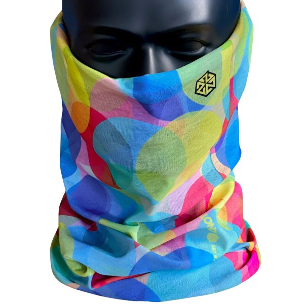 Avalon7 rainbow color neck gaiter face mask