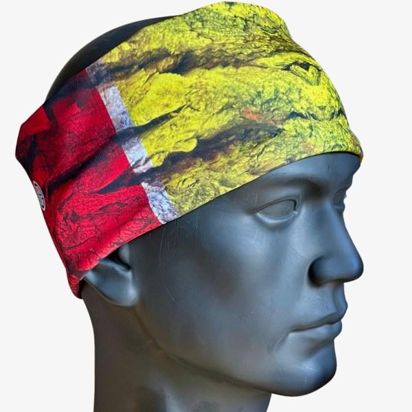 AVALON7 Rasta Wood Cooling Sweat Headband