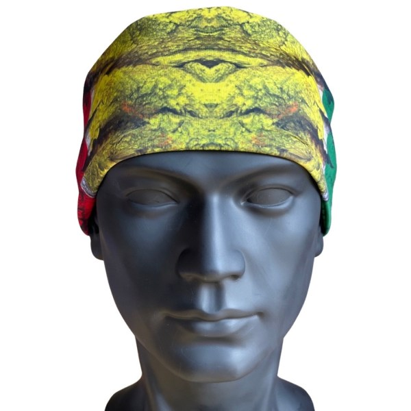 AVALON7 Rasta Wood Neck Cooler Headband