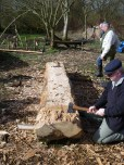 Richard takes down the ends to create the punt-like shape required.