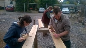 Carvers at work