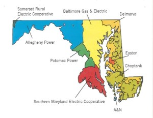 Maryland State Utility Map