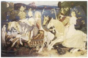 The Riders of the Sidhe, John Duncan, 1911