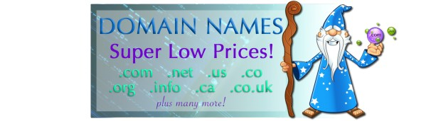 Super Low Domain Name Prices