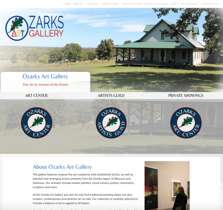 Avalon Web Designs | Professional Website Design & Marketing Services for OzarksArtGallery.com