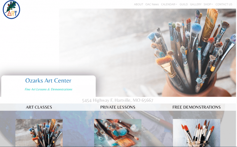 Avalon Web Designs | Professional Website Design & Marketing Services for OzarksArtCenter.com