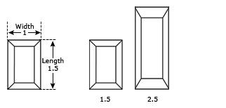 Baguette Cut Dimensions