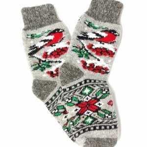 Moteriškos vilnonės kojinės su paukščiuku