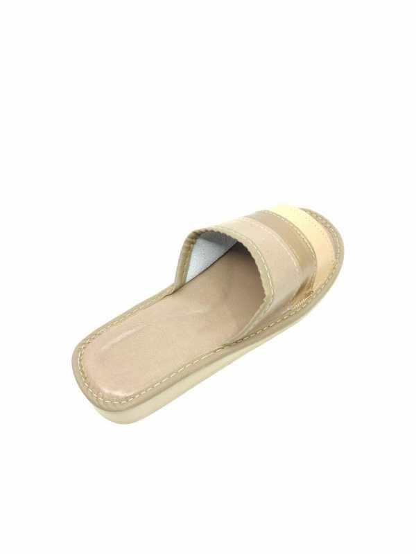 """Dirbtinės odos moteriškos šlepetės """"Gold"""""""