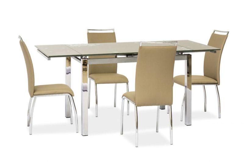 szklany stół kuchenny z krzesłami