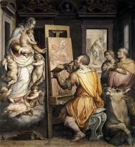 St Luke Painting the Virgin VASARI, Giorgio after 1565 Fresco Santissima Annunziata, Florence